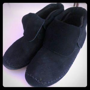 Toms Zahara black suede ankle bootie Sz 8